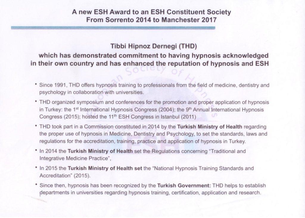 ESH akreditasyon yazısı